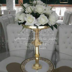 ظرف میوه و شیرینی با گل | لنواع ظروف پذیرایی و تزئینات تالار |