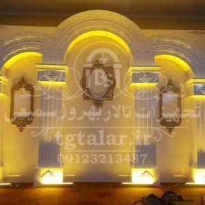 جایگاه عروس و داماد مدل رومی با نورپردازی