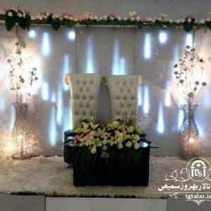 جایگاه عروس و داماد صندلی پشت بلند