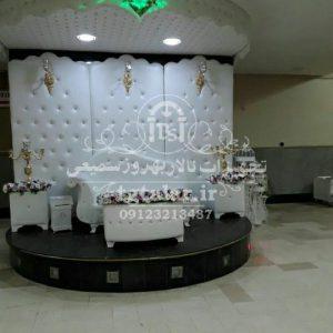 جایگاه عروس و داماد چرمی و فلزی