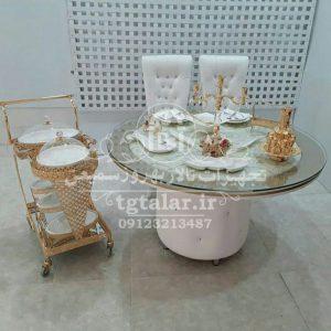 صندلی مبله مدل کلاسیک با میز | میز تالار | صندلی مبله