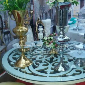بامبو گلدار | گلدان فلزی | شمعدانی و گلدان تالار