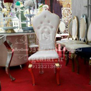 صندلی برگ گشنیز طلایی | صندلی طلایی تالار | انواع صندلی تالار|