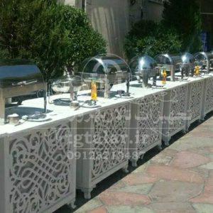 میز سرو غذا تالاری | میز تالار | صندلی تالار | تجهیزات تالا