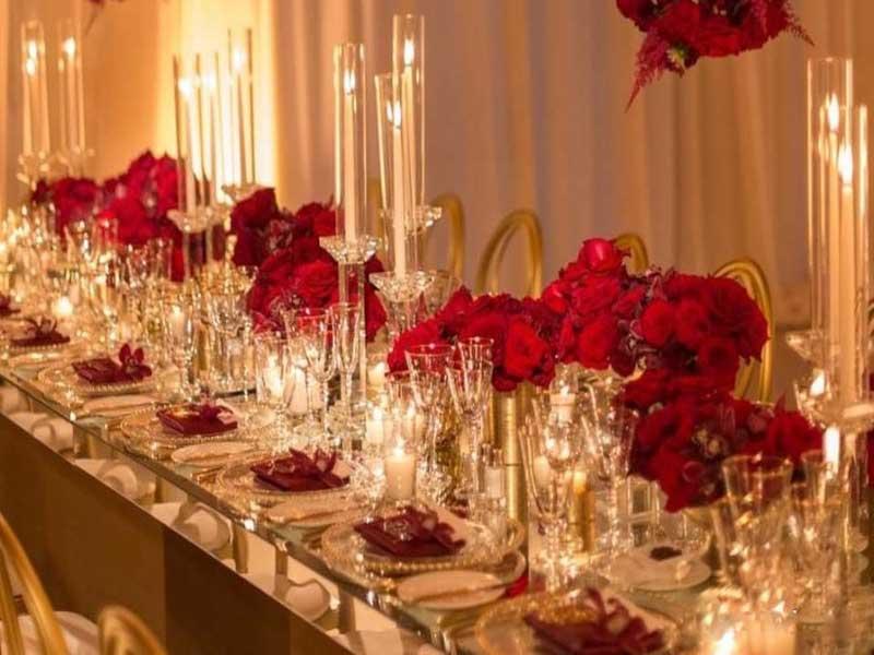 گل آرایی جشن عروسی | صندلی شیواری | میز و ظروف تالار | تجهیزات تالار سمیعی